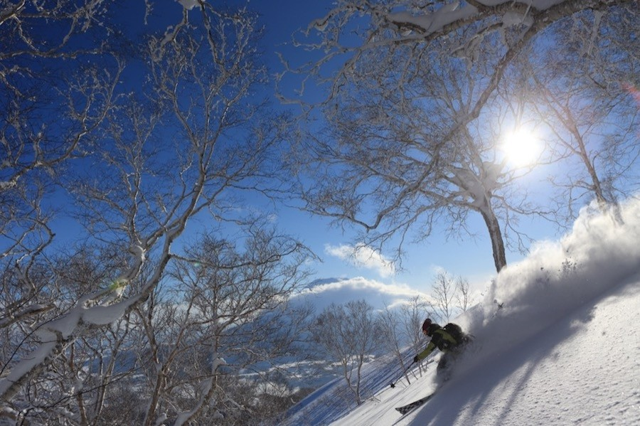 Seasonal winds from the Eurasian continent pick up moisture over the warm currents of the Sea of Japan to form clouds made of some of the driest, lightest powder snow in the world. (Mountain Collective)