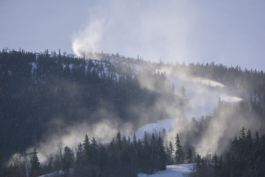 In the last 10 years Sunday River has spent millions on new snowguns. (Sunday River)