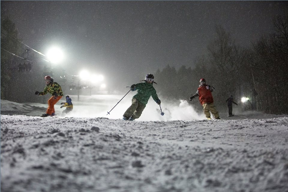 Located just minutes from St. Louis night skiing is always busy. (Hidden Valley/Facebook)