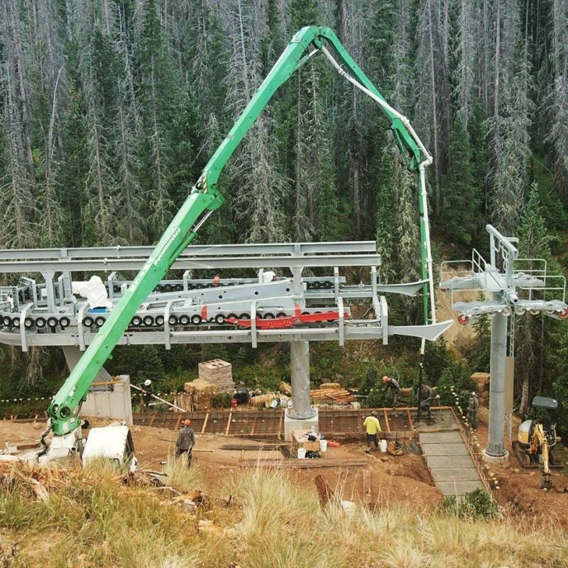Pouring concrete for new Wolf Creek chair. (Wolf Creek/Facebook)