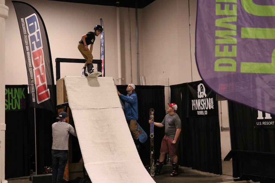 Amateurs to pros show off their stuff at the Boston Open Rail Jam. (Martha Wilson)