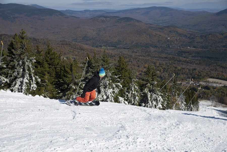 Western Maine mountain views from Sunday River opening day 2018. (Sunday River/Facebook)