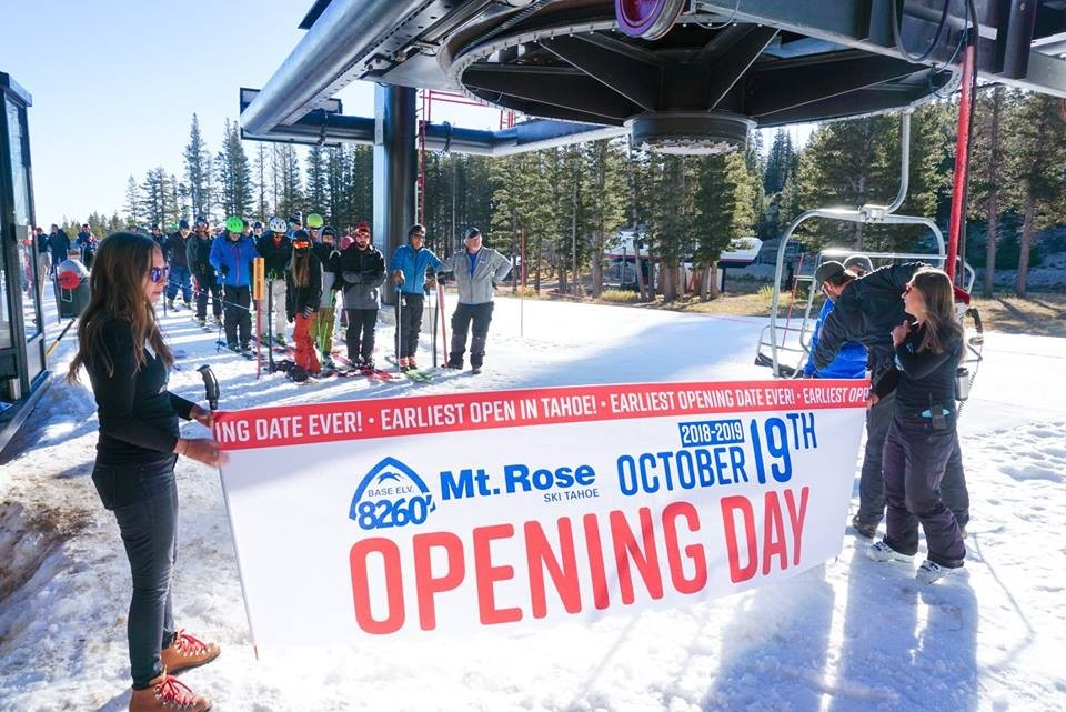 Opening sooner than ever, Mt. Rose Tahoe lifts off California season. (Mt. Rose Tahoe/Facebook)