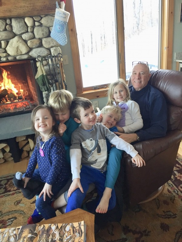John Meyers enjoys visits with his grandchildren at his Okemo vacation home. (John Meyers)