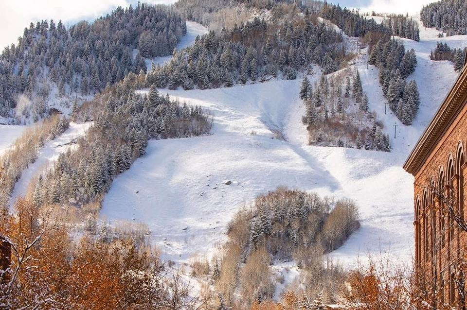 Natural snow builds up for Aspen Mountain early opening. (Aspen Mountain/Facebook)