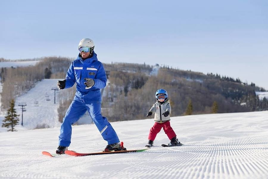 Learning to ski at Park City. (Park City)