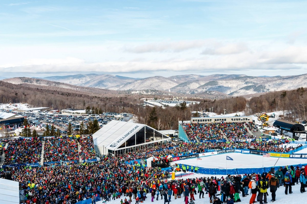 18,500 fans filled the Killington base area Saturday. (Killington/Facebook)