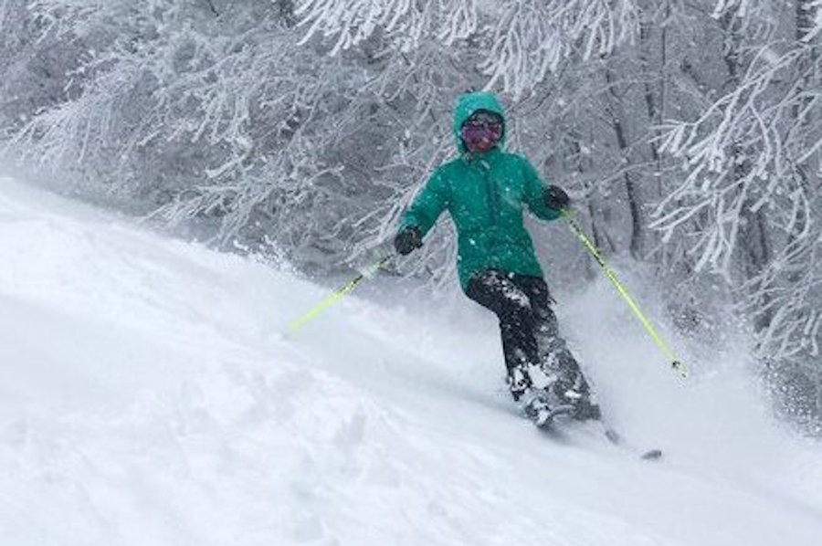 16 inches of fresh snow at Okemo and ropes will be dropping. (Okemo/Facebook)