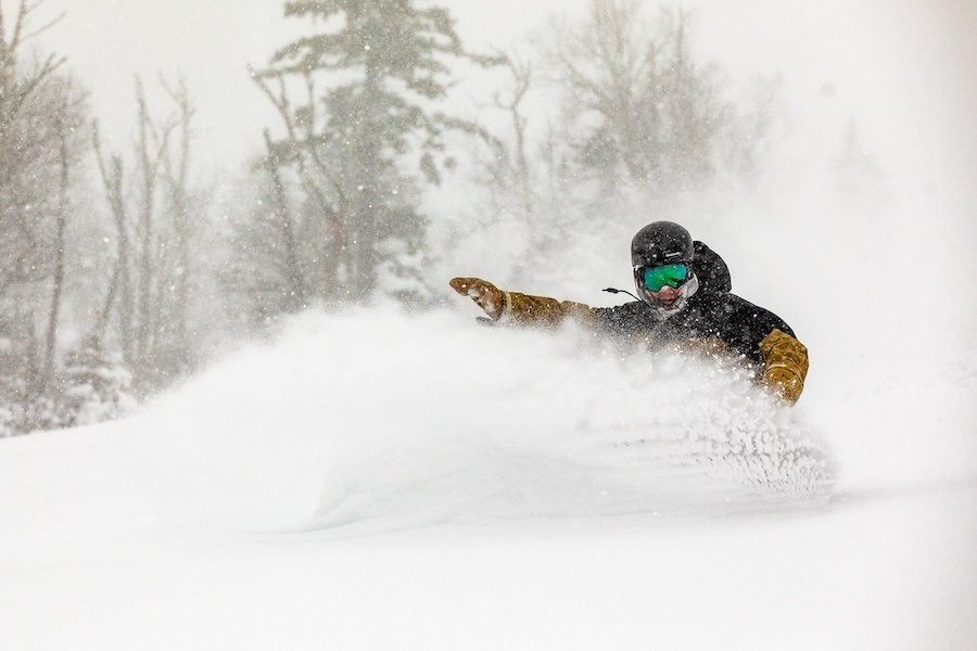 18 inches at Sugarloaf's closing bell today, and it's still snowing.