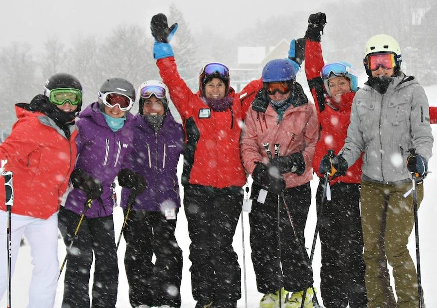 Camraderie helps women tackle the slopes. (Windham/Facebook)