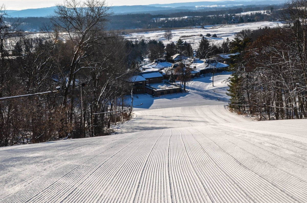 Devil's Head slopes groomed to perfection for opening day November 23. (Devil's Head/Facebook)