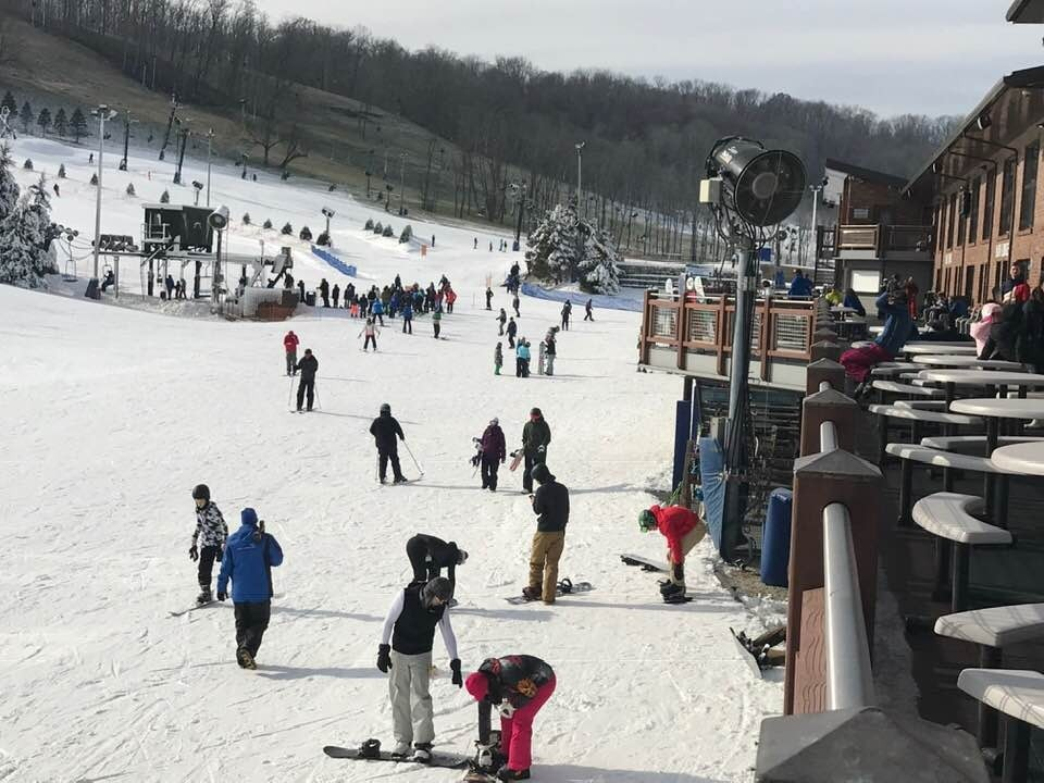 Perfect North Slopes in southern Indiana had a good crowd for opening day December 9. (Perfect North Slopes/Facebook)