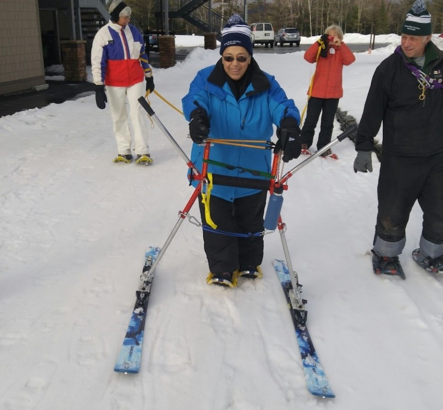Adaptive snowshoeing comes to Windham. (CRNA)