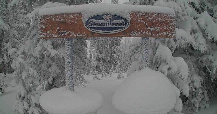 Colorado's Steamboat has caught a bunch of powder from latest northern storms. (Steamboat/Facebook)