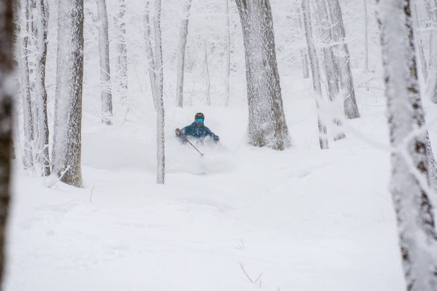 Powder stashes all around at Burke in the Northeast Kingdom. (Burke/Facebook)