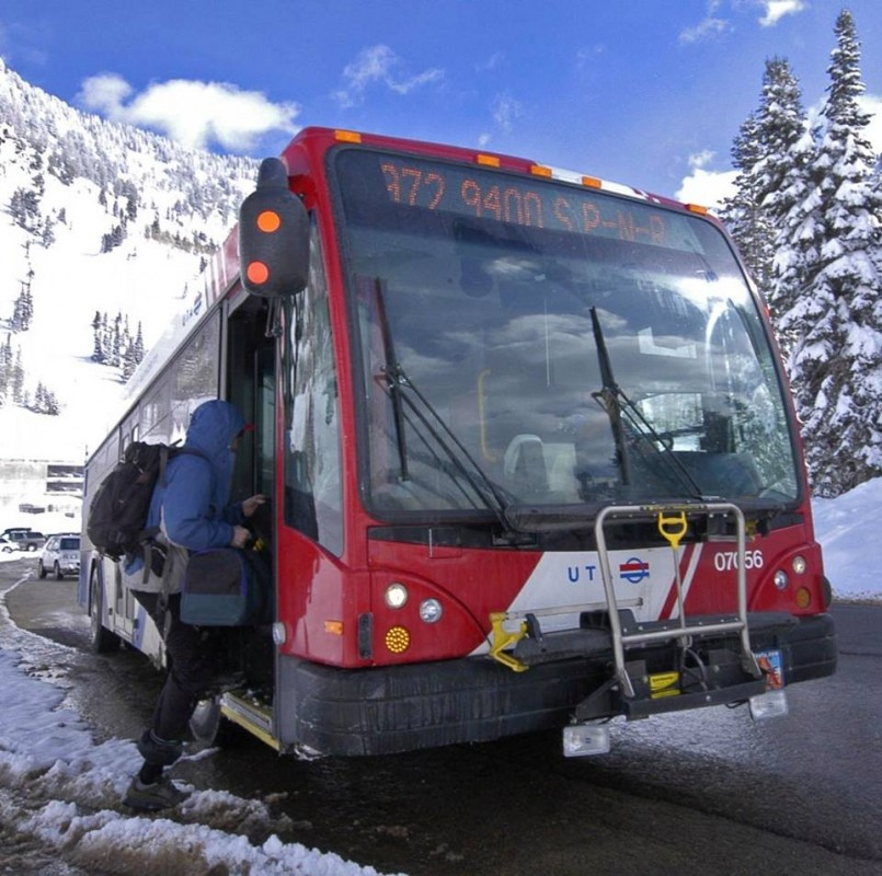 Heading into Utah's Wasatch Mountains couldn't be easier with Salt Lake City transport system. (UTA/Facebook)