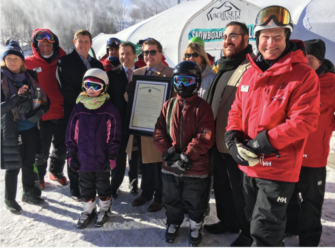 Proud new skiers and riders at Wachusett. (LTSSM/Wachusett/Facebook)