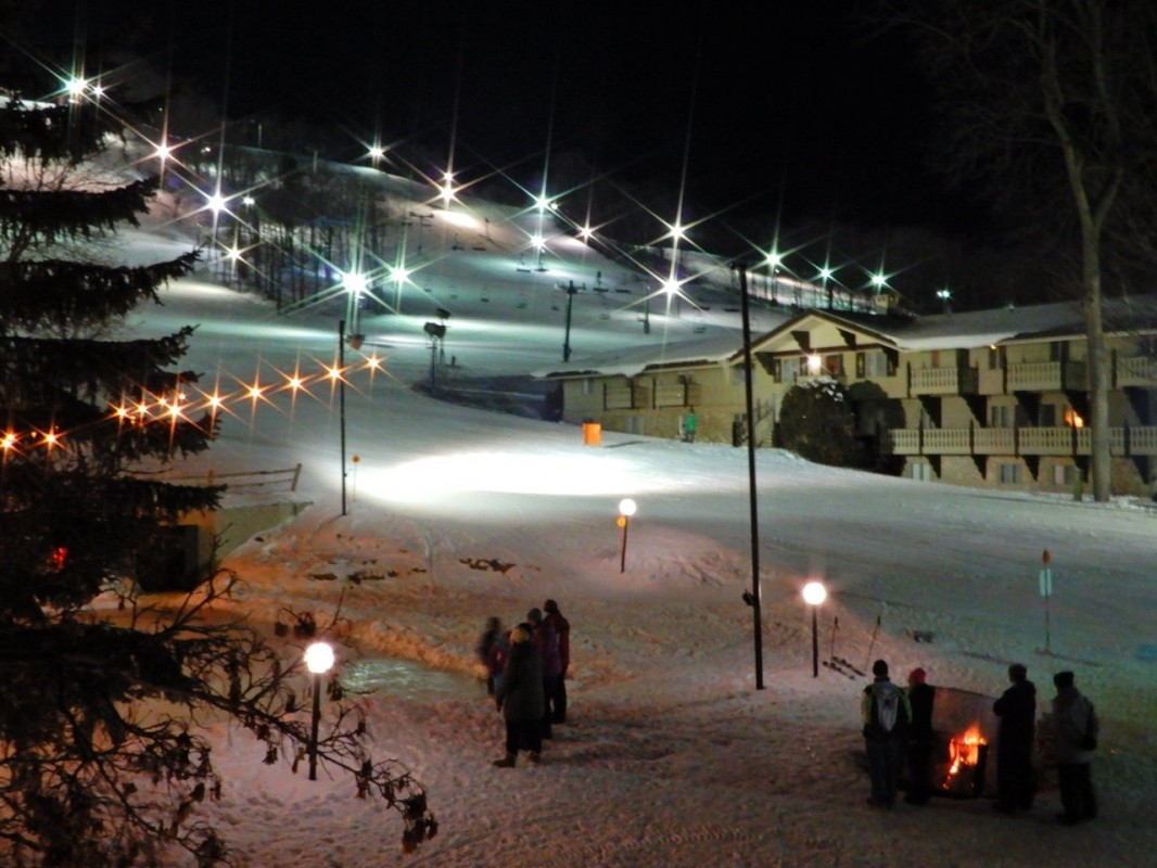 The lights and skiing went on all night long. (Mike Terrell)