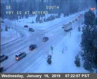 Snowy weather can make the commute to Tahoe mountains a challenge. (Tahoe Now)