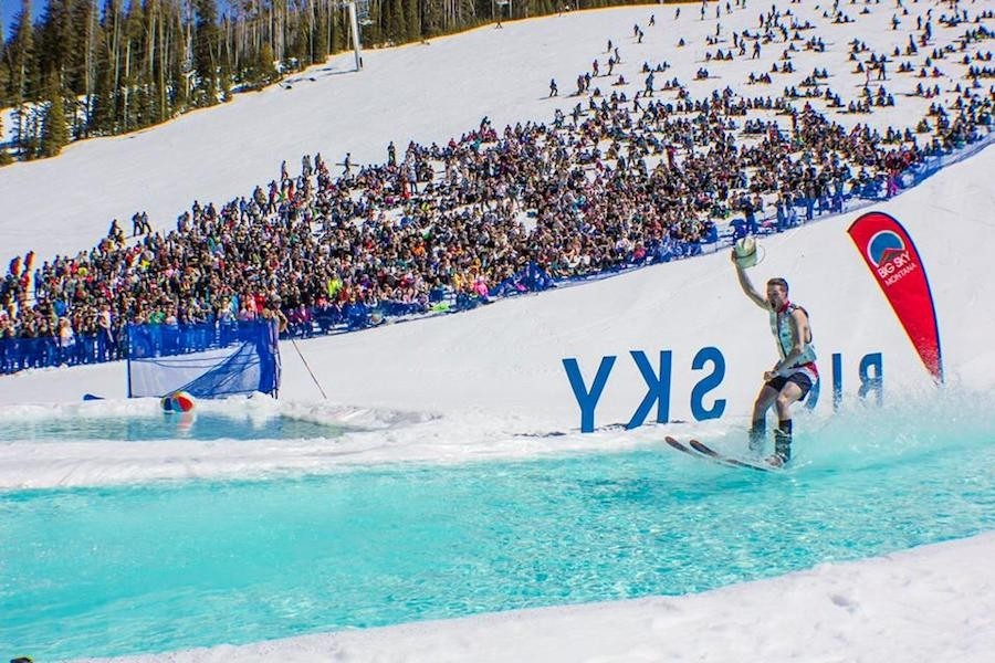 Big Sky's $221 April pass gets you front row access to events like the annual pond skim.