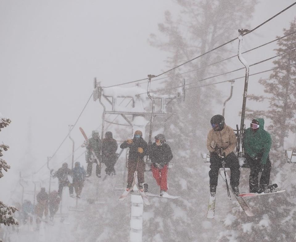 Multi-foot storms brought skiers and riders to June Mountain in droves. (June Mountain/Facebook)