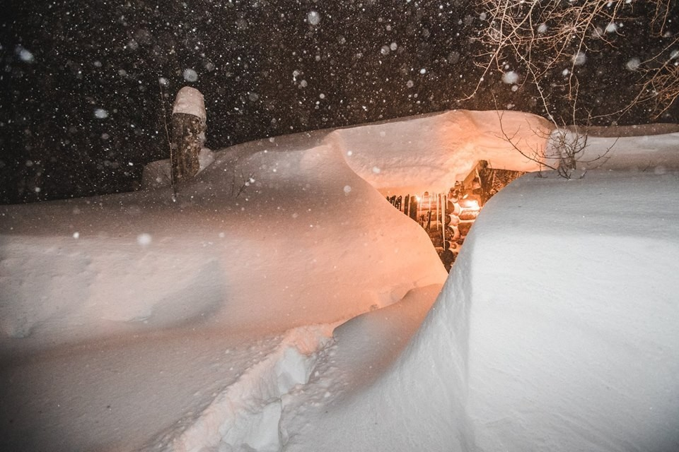 Where's the house? Mammoth had to handle nearly 100 inches in five days. (Mammoth Mountain/Facebook)