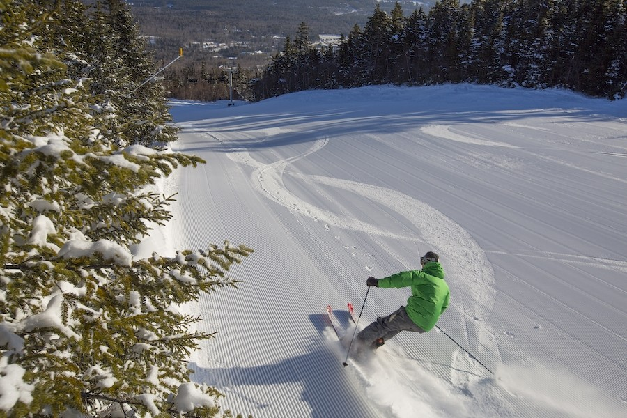 Learning to hit the corduroy at Sunday River. (Sunday River)