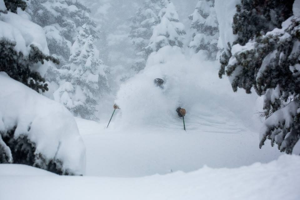 Since 1939, Alta Ski Area has been the go-to mountain for snorkel-depth pow'. (Alta/Facebook)