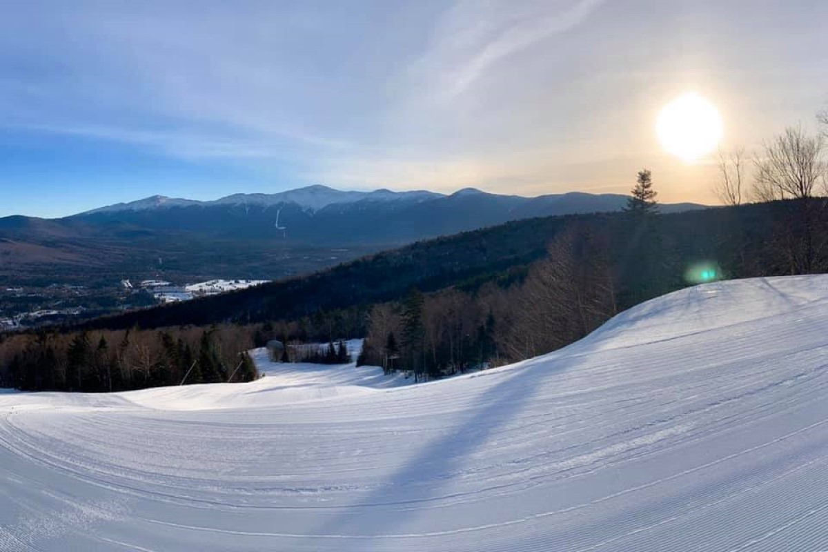 Some pleasant days weave into New England's forecast, including at Bretton Woods. Pick and choose your days to enjoy groomed trails in the northeast (Bretton Woods/Facebook)