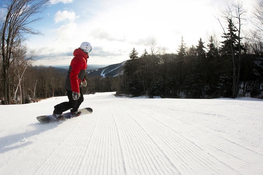 Fresh corduroy in the morning before heading to work. (Killington/Facebook)