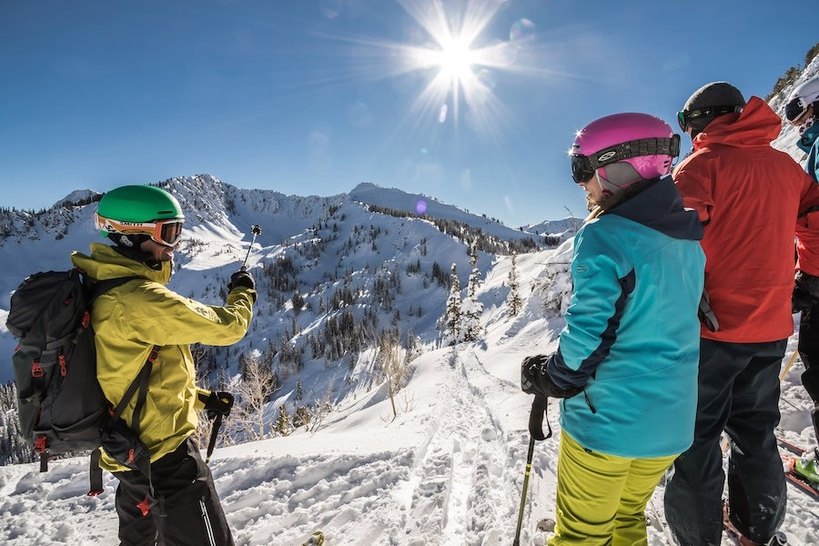 Perfect bluebird morning for a Ski Utah Interconnect tour with great conditions in the backcountry. (Chris Pearson)