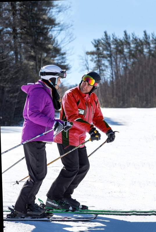Trained instructors at Wachusett make learning to ski easy and fun. (Wachusett)