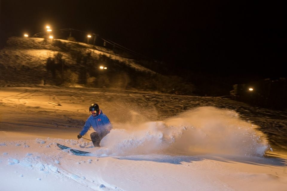 Springs storms extend night skiing at Hesperus. (Ski Hesperus/Facebook)