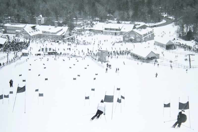Early ski racing in the White Mountains. (Waterville Valley)