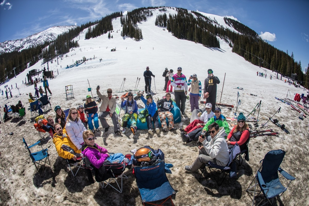 The tailgating gets rowdy on the famed Beach at Arapahoe Basin. (Arapahoe Basin)
