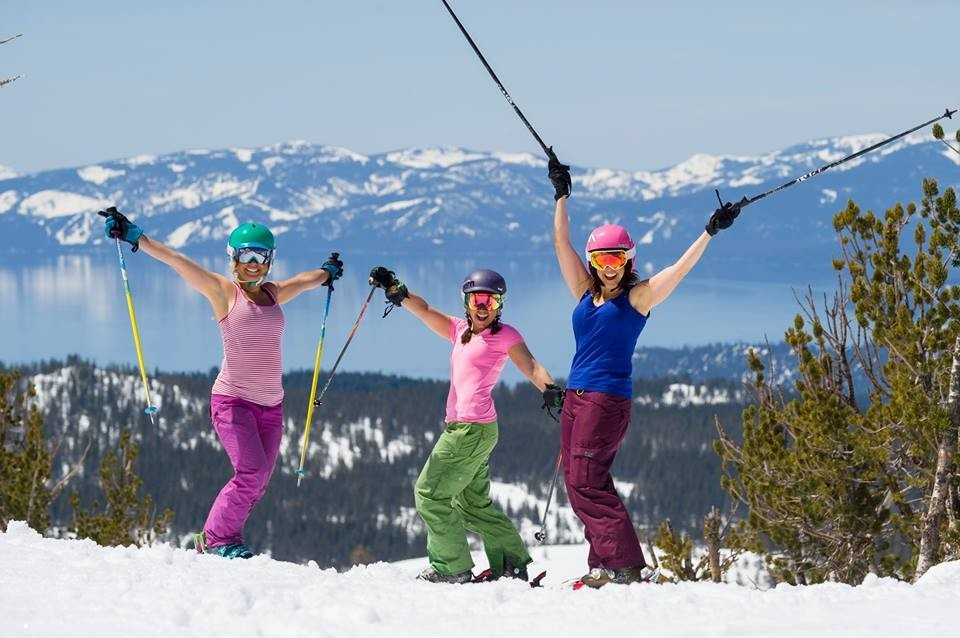 Girls just wanna have fun in springtime at Mt. Rose, where tailgating reigns. (Mt. Rose Ski Tahoe/Facebook)