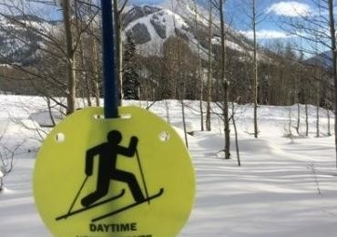 It's important to follow the local rules and obey signs to be safe while skinning. (Skicb.com)