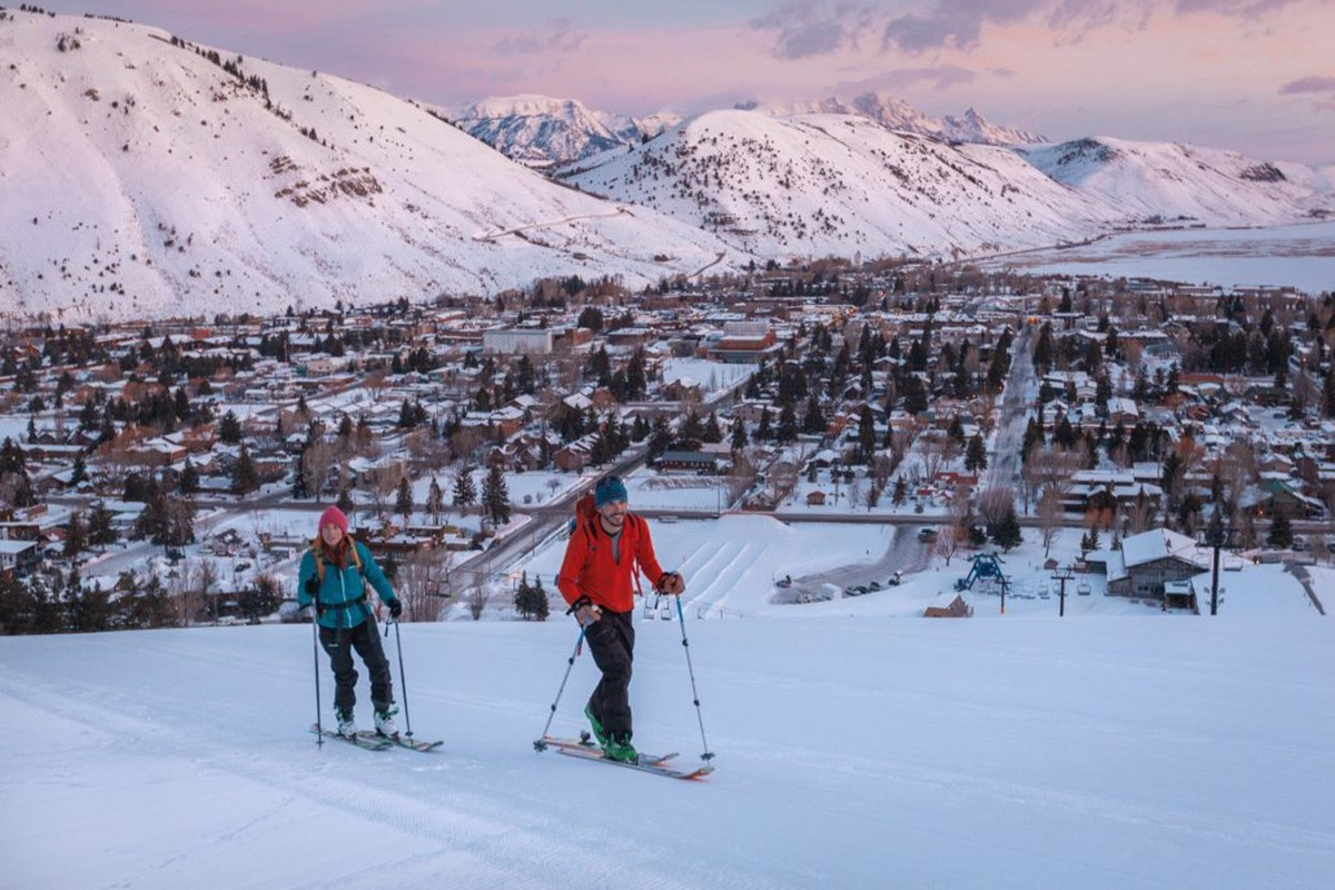 A strong uphill ski culture permeates this town hill. (Snow King Resort)