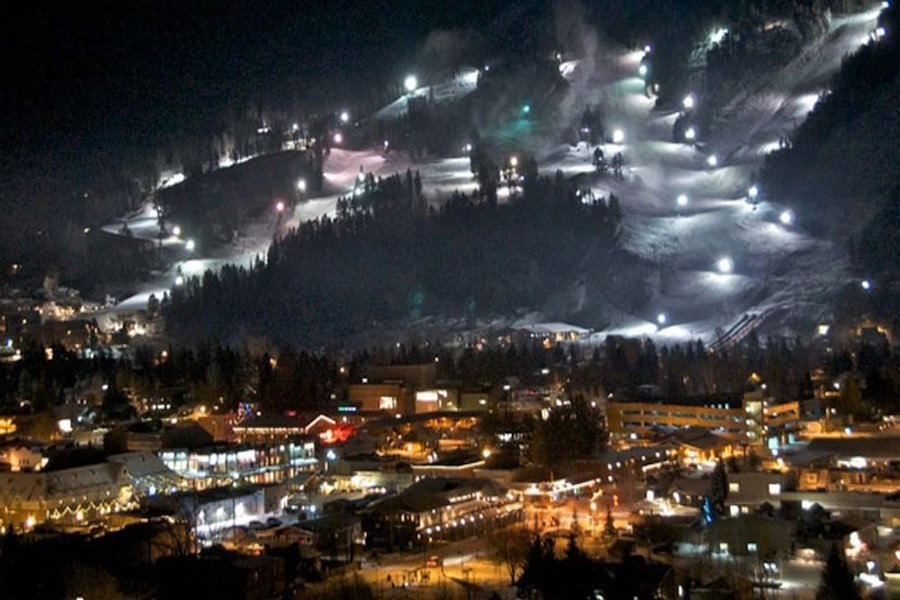 At Snow King you don't have to stop when the sun goes down. (Jackson Hole Resort)