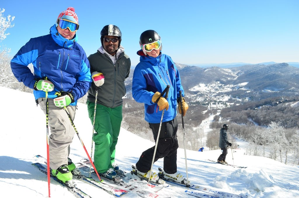 North Carolina views for these skiers. (Sugar Mountain)
