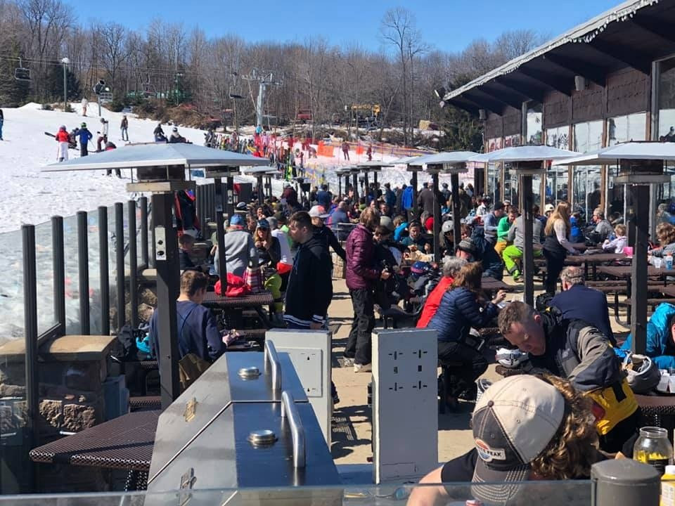 Granite Peak is planning on at least a couple of more weekends to stay open, and the deck is always busy this time of year. (Granite Peak/Facebook)