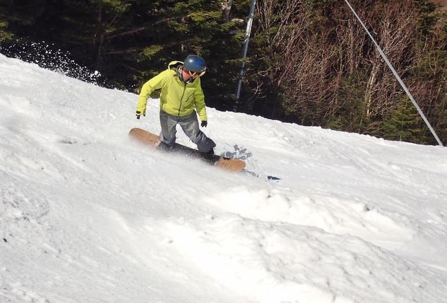 Finding your rhythm in the spring bumps. (Smugglers' Notch/Facebook)