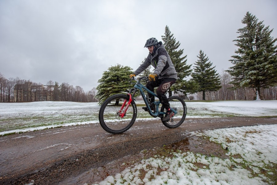 A little cold and snow couldn't stop this racer from taking on the Killington Triathlon. Killington will operate weekends only after May 5, where the Superstar glacier could take east coast skiers into June.