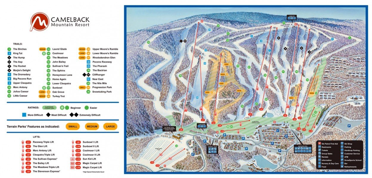 snocountry | snow reports | pa | camelback